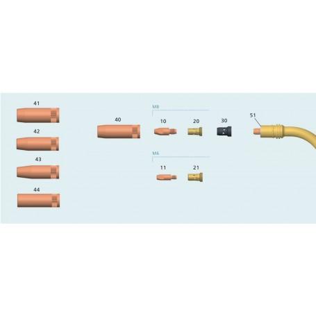 Portapunta Tbi 7w (part. no 20 ) cod. 342P008033