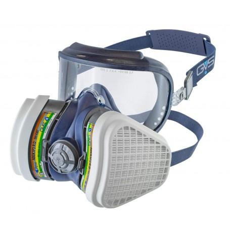 GVS SPR535 Elipse Integra ABEK1-P3 semimaschera con protezione occhi inclusa e filtri sostituibili e riutilizzabili inclusi